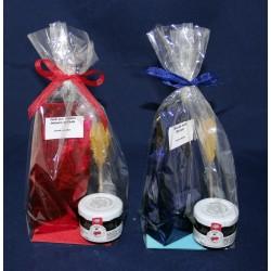 5693 Cadeau avec thé, confiture et stick de sucre cristallisé