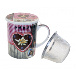 """5704 Tasse en porcellaine avec filtre en acier \""""Heidi\"""""""