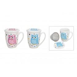 5719 Tasse de thé en porcelaine avec filtre