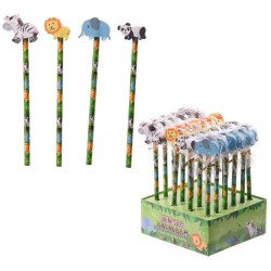 5804 Crayon avec gomme jungle