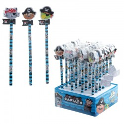 5808 Crayon avec gomme pirate