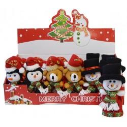 5915 Pochette de Noël en feutre avec chocolat