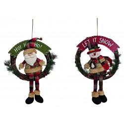 6117 Couronne de Noël en bois à suspendre