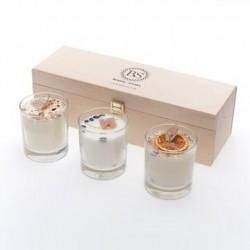 6327 Set avec 3 bougies parfumée beauty scents