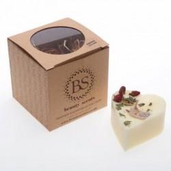 6303 Bougie parfumée beauty scents 9 x 8.5 cm parfum cannelle en cire de soja Commande minimum 6 pièces